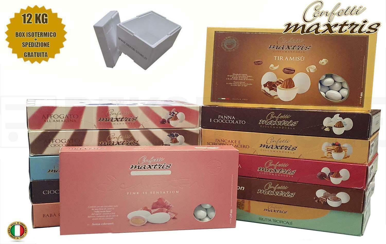 maxtris kit risparmio confetti maxtris 12 kg gusti personalizzati - per 120/160 invitati
