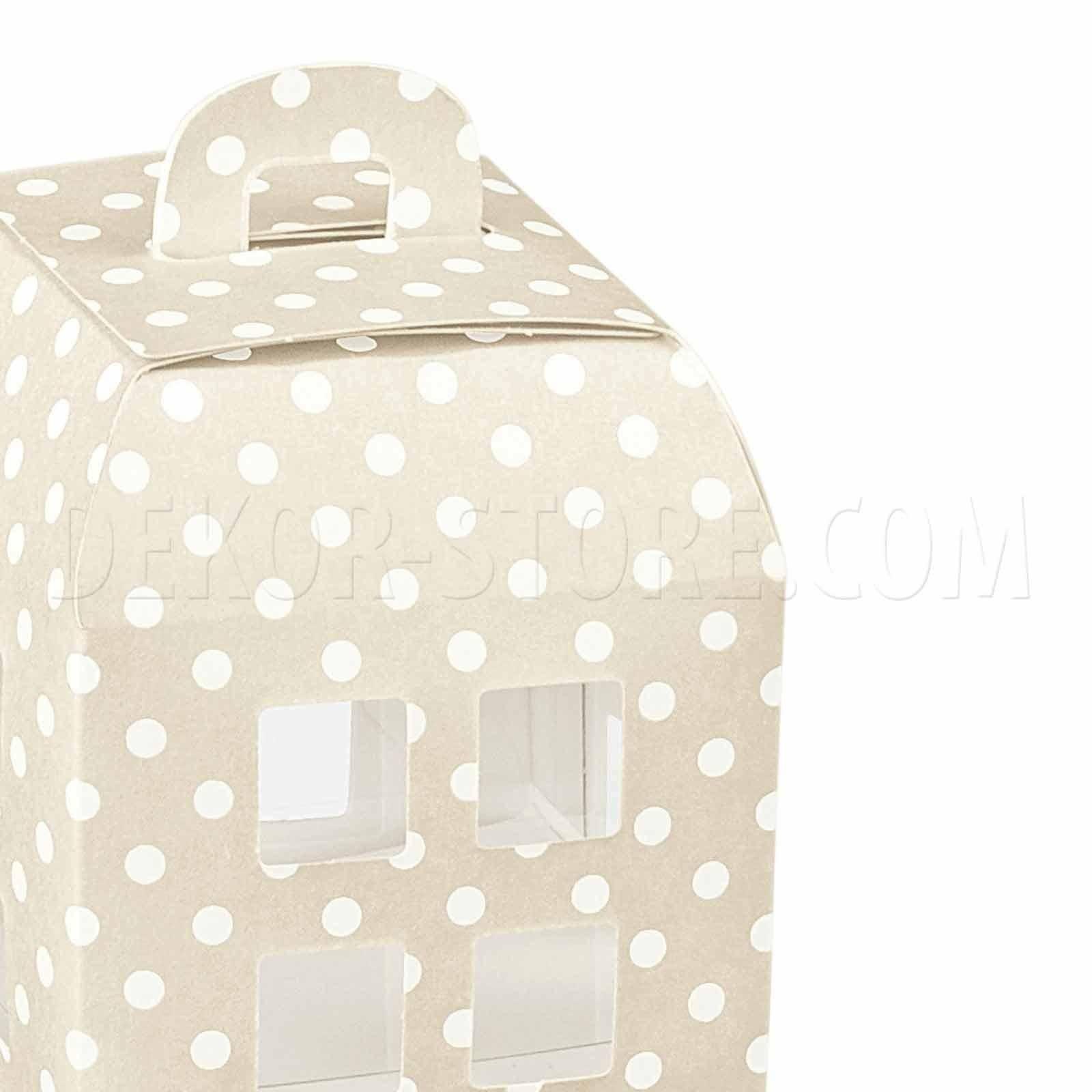 scotton spa lanterna porta confetti atelier tortora con interno trasparente 55x55x60 mm - 5 pz