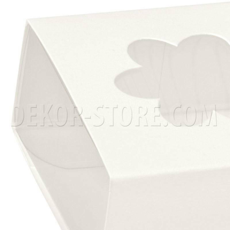 scotton spa astuccio in pvc trasparente con fascetta e finestra a fiore white 60x60x30 mm - 10 pz
