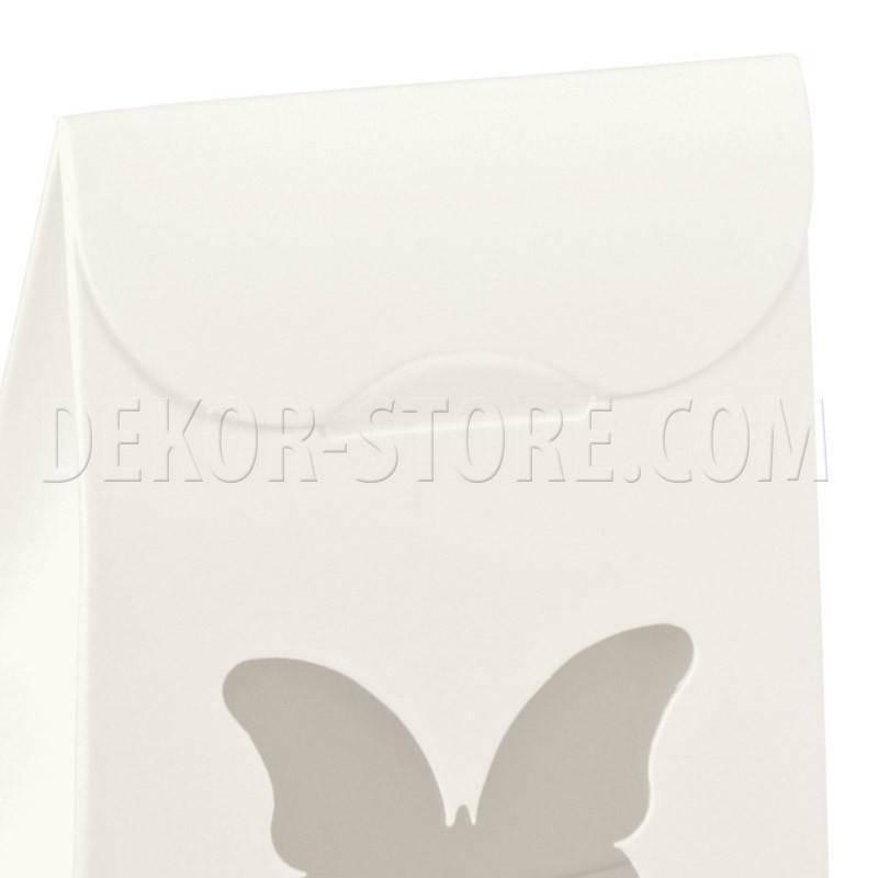 scotton spa sacchetto con finestra a farfalla white 60x35x80 mm - 10 pz
