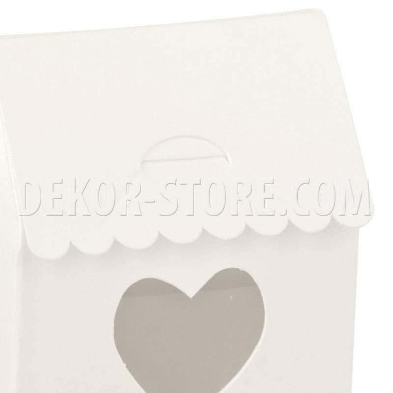 scotton spa casetta white con finestra a cuore 60x40x70 mm - 10 pz