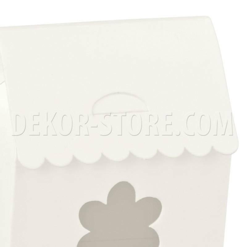 scotton spa scotton spa casetta 60x40x70 mm con finestra fiore - white