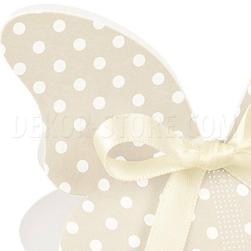 scotton spa scatolina a forma di farfalla atelier tortora 60x40x90 mm - 10 pz