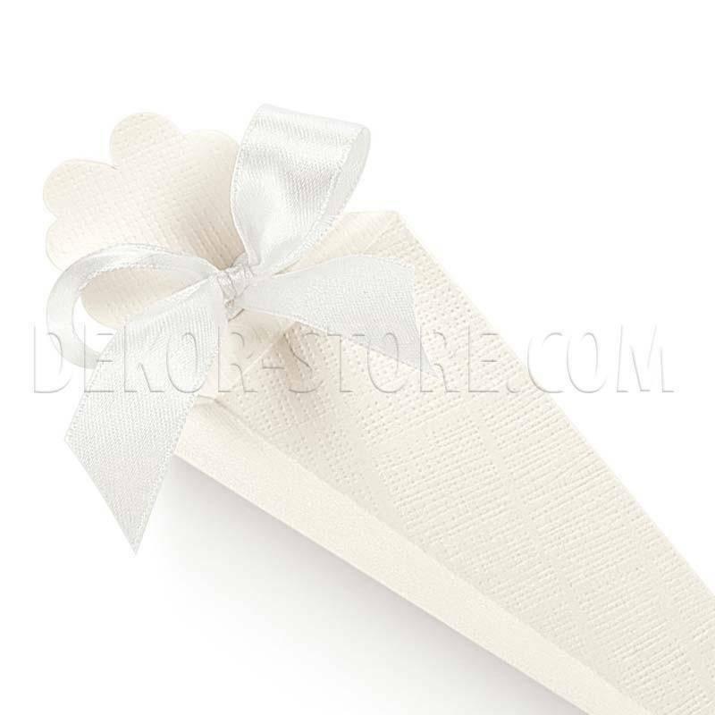 scotton spa cono quadrato seta bianco 155 mm - 10 pz