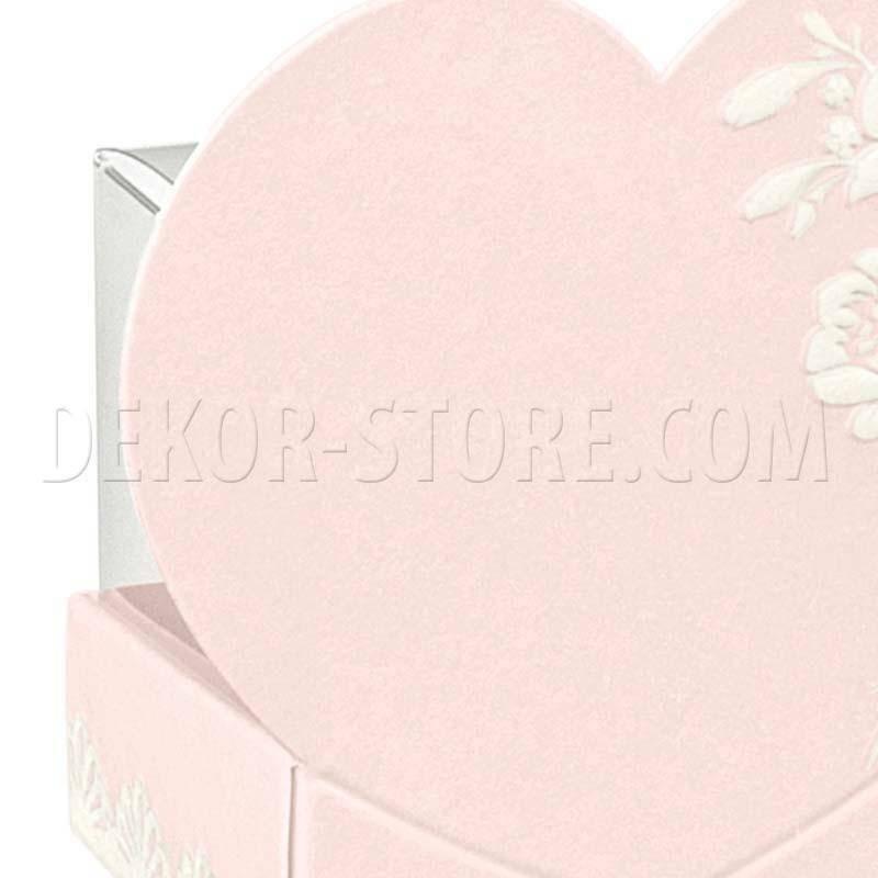 scotton spa scotton spa cestello 40x40x65 mm con cuore - shabby chic + astuccio in pvc