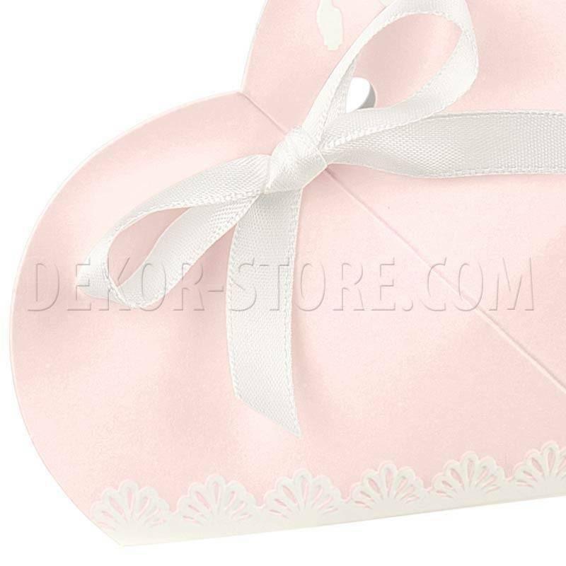 scotton spa scotton spa portaconfetti 50x50x25 mm a forma di cuore in cartoncino - shabby chic