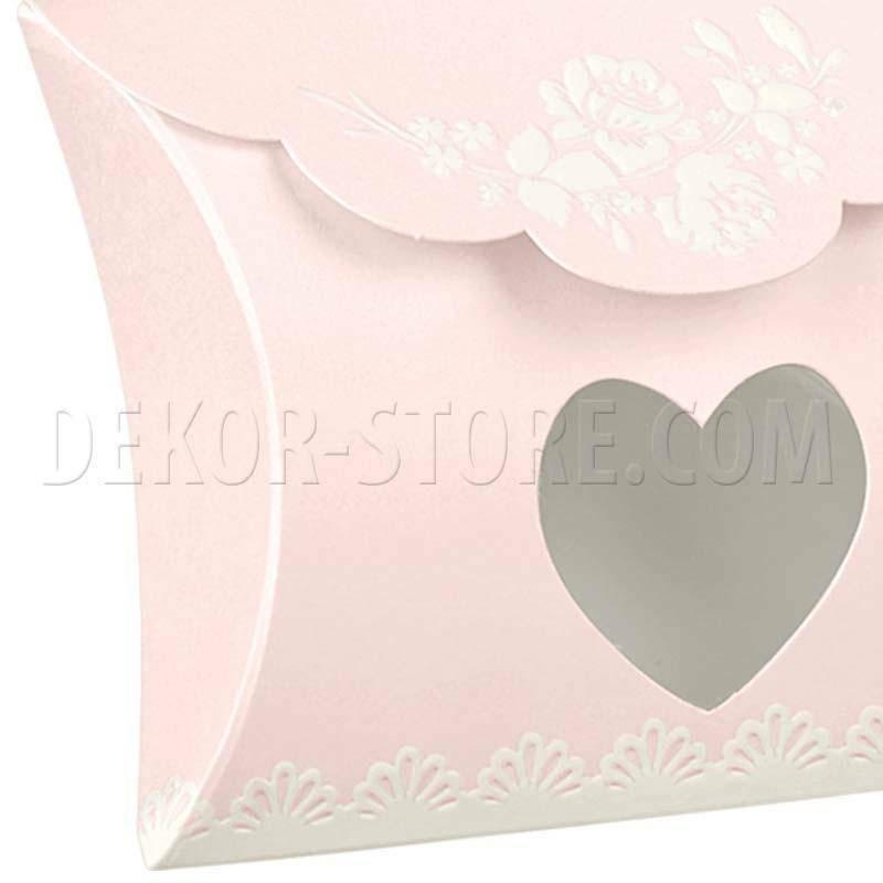 scotton spa busta con finestra a cuore shabby chic 80x85x30 mm - 6 pz