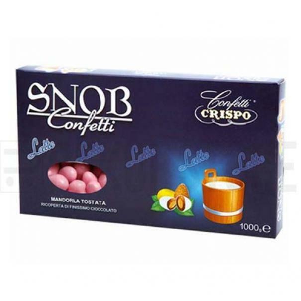 crispo confetti crispo latte - colore rosa snob 1 kg