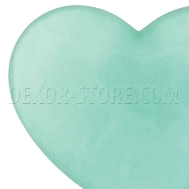 scotton spa scotton spa cuore verde acqua x 50 pz - 18x15mm in resina