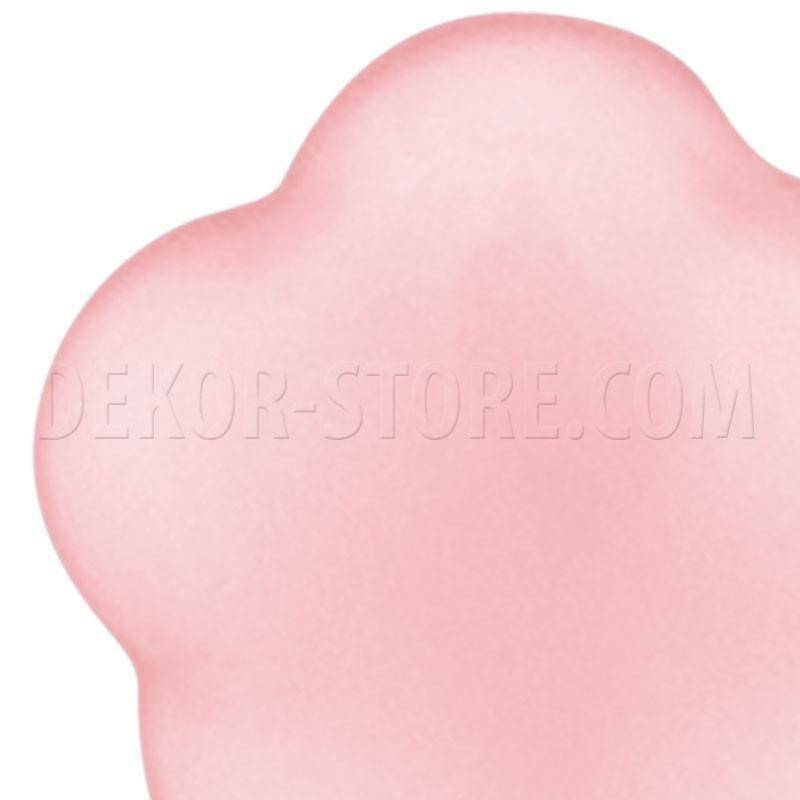 scotton spa scotton spa fiore stilizzato rosa in resina - 24 x 24 mm