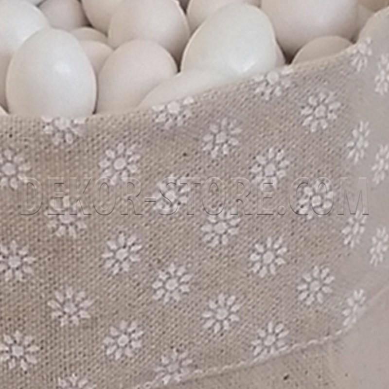 sacchetto portaconfetti margherite 18x18xh22cm