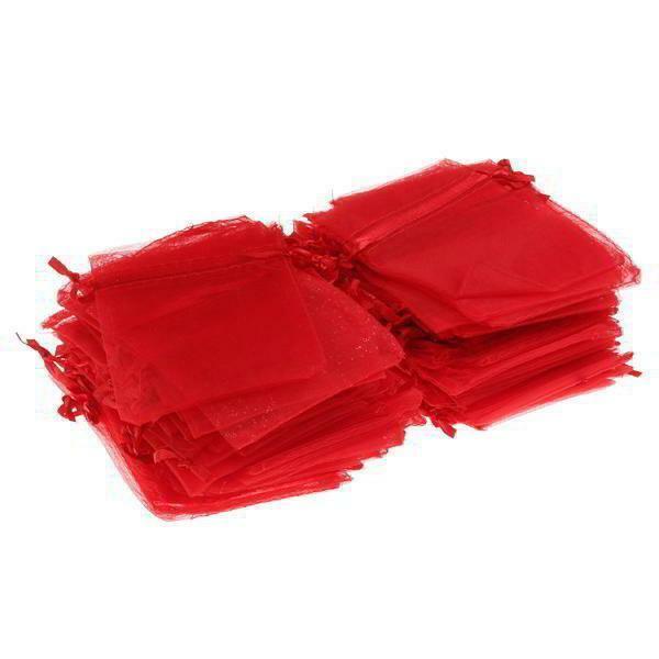 sacchetto 8,5x7 cm in organza rosso