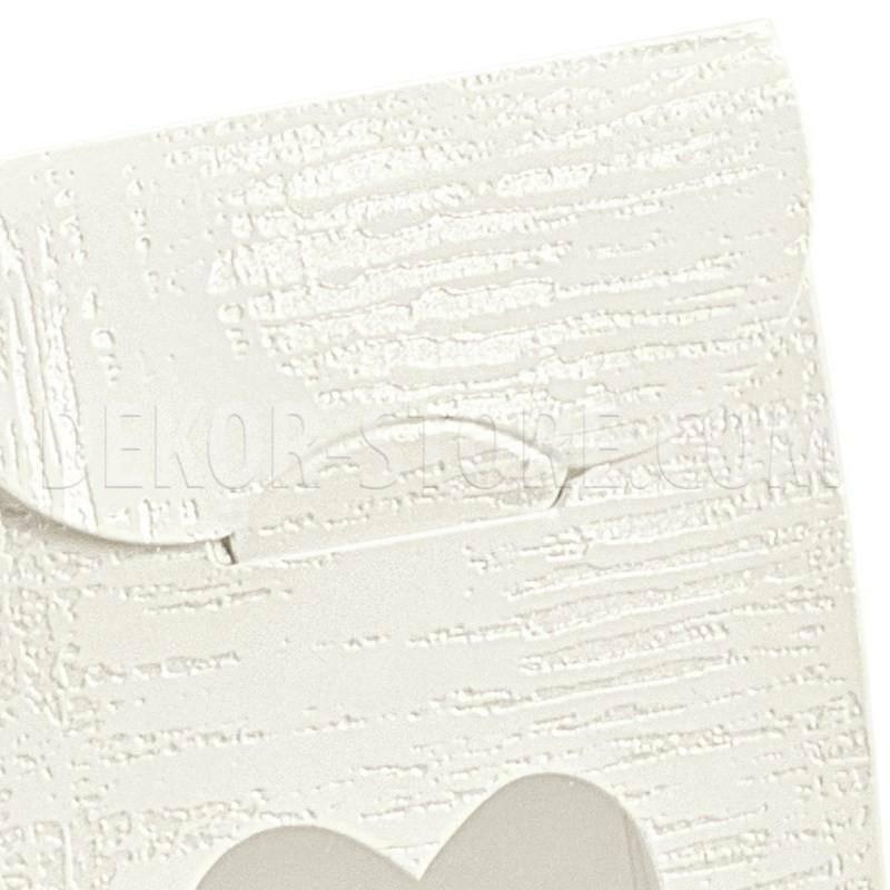 scotton spa sacchetto con finestra a cuore tela bianco 60x35x80 mm - 10 pz