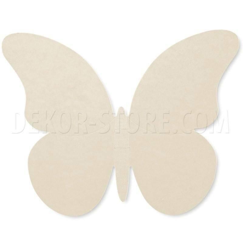 scotton spa scotton spa farfalle set 3 pz 140x105 - 215x170 - 270x220 mm - cartoncino color tortora