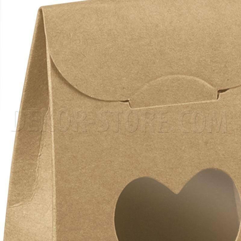 scotton spa scotton spa sacchetto 60x35x80 mm con finestra a cuore - avana