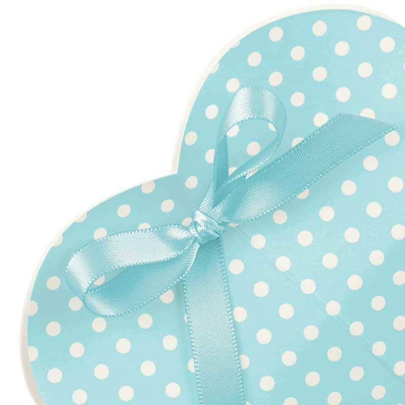 scotton spa cuore porta confetti atelier azzurro 50x25x90 mm - 10 pz