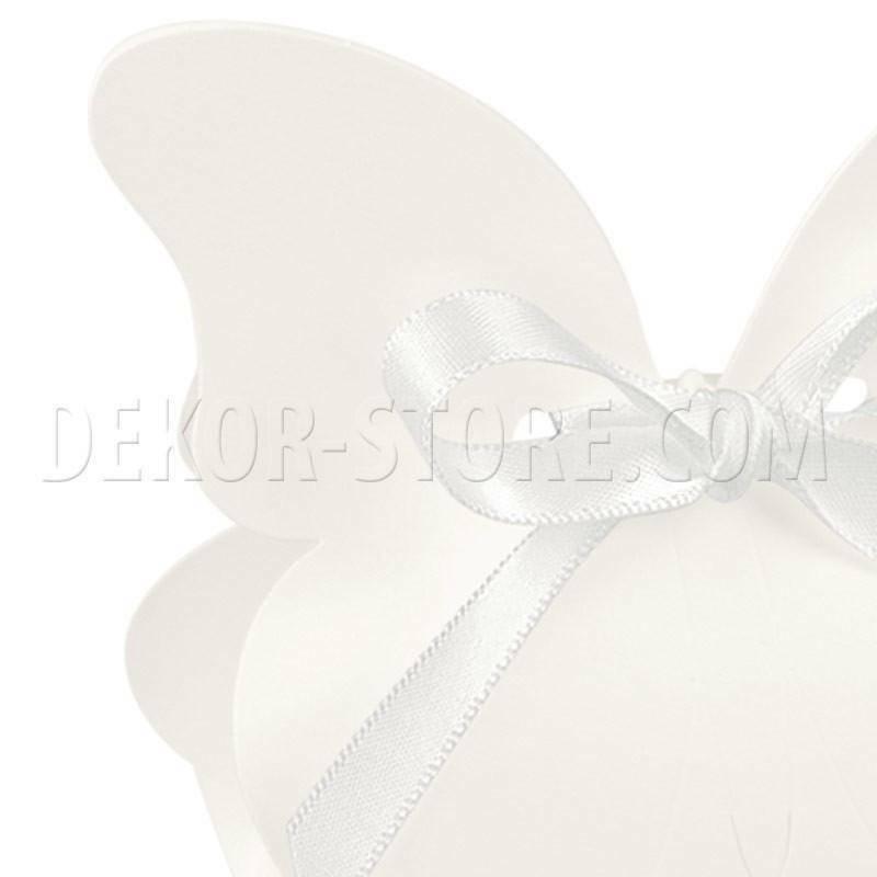 scotton spa scatolina a forma di farfalla white 60x40x90 mm - 10 pz