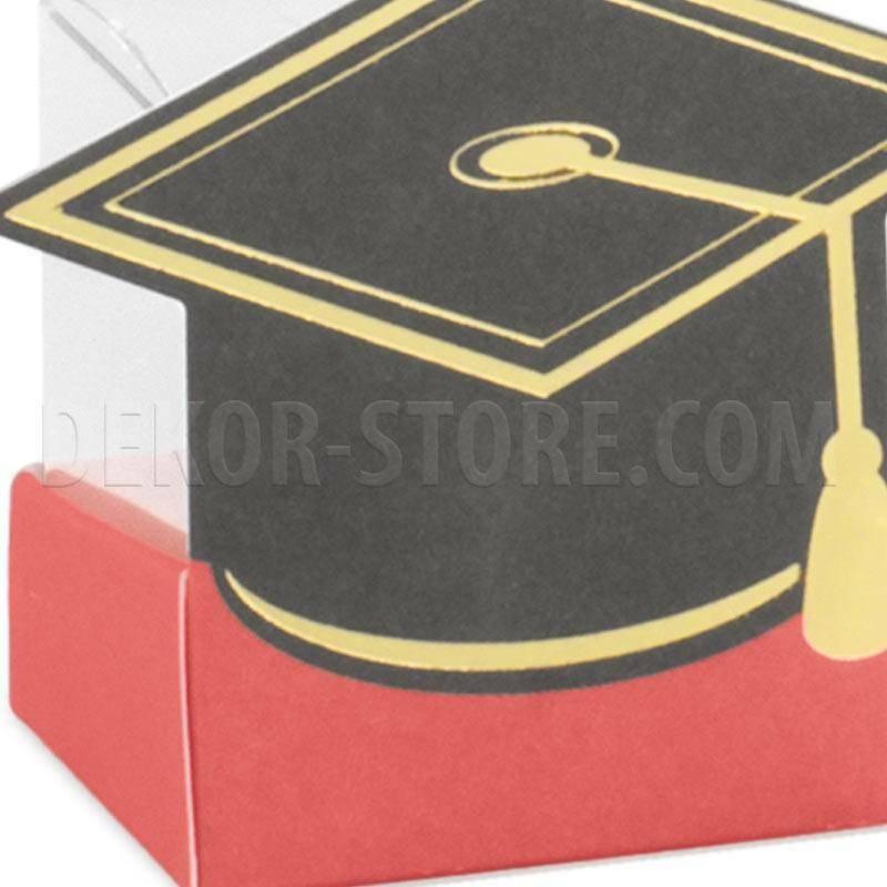 scotton spa cestello porta confetti con tocco 40x40x60 mm - 5 pz