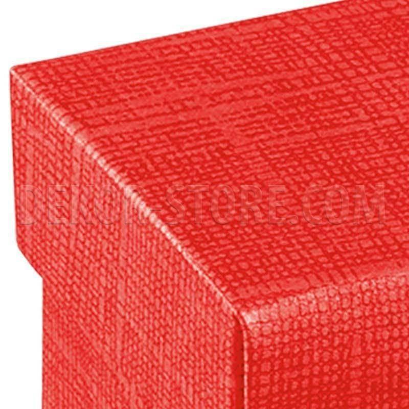 scotton spa scatolina porta confetti fondo e coperchio seta rosso 50x50x50 mm - 10 pz