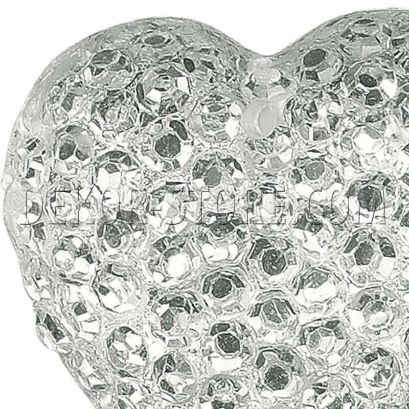 scotton spa scotton spa bottone 16x16 mm effetto cristallo bianco a forma di cuore