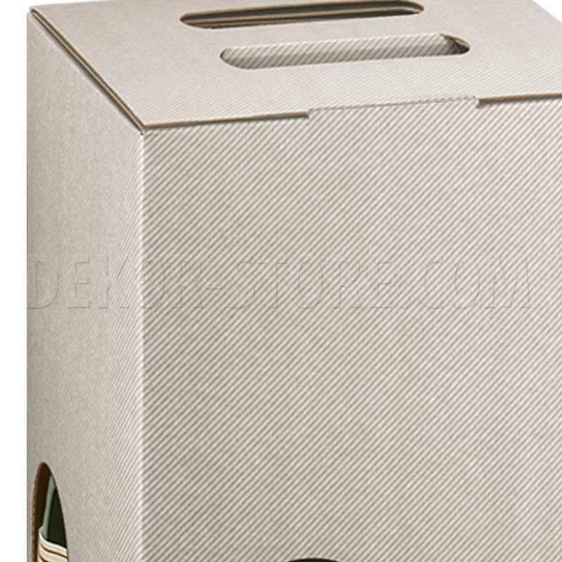 scotton spa scotton spa scatola 4 bottiglie a cubo con maniglia - linea tortora