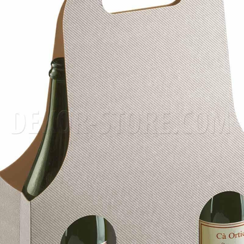 scotton spa scotton spa scatola 3 bottiglie con maniglia - tortora bag new