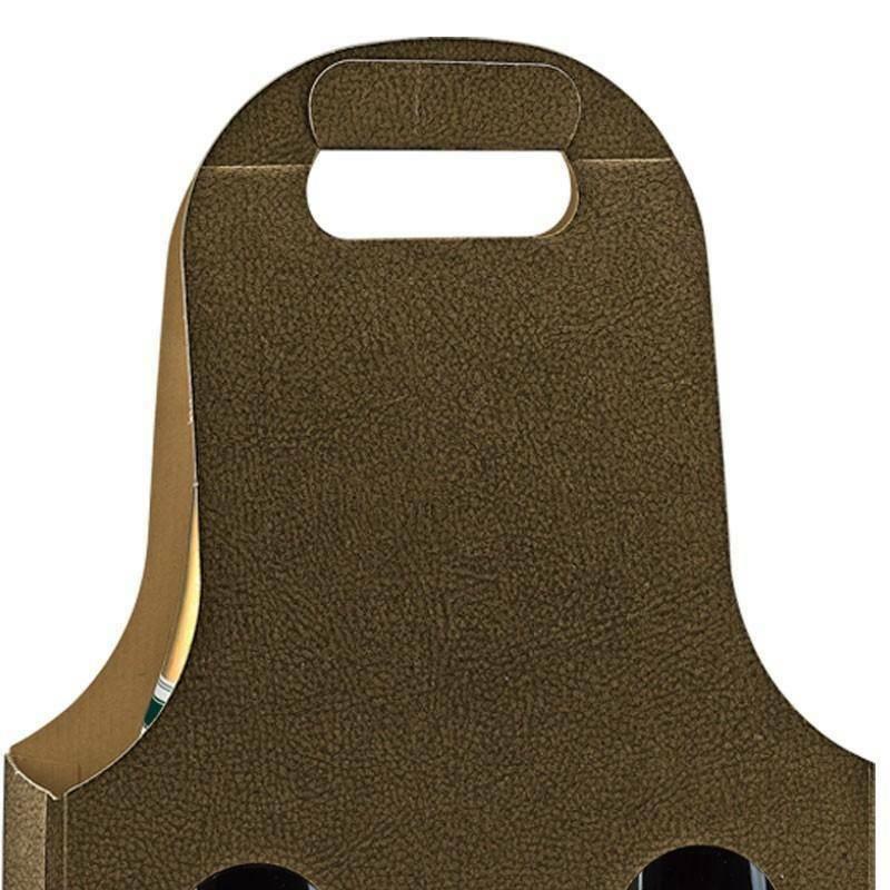 scotton spa scotton spa scatola 3 bottiglie con maniglia - pelle marrone - bag new