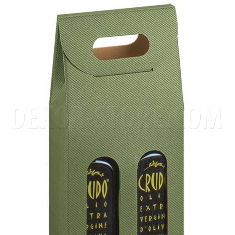 scotton spa scotton spa scatola olivia 2 bottiglie mini 110x55x305 mm - verde