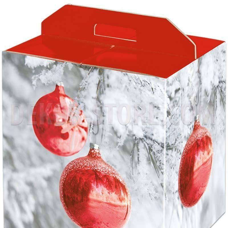 scotton spa scotton spa pacco dono con maniglia 305x225x350 mm - sfere rosse