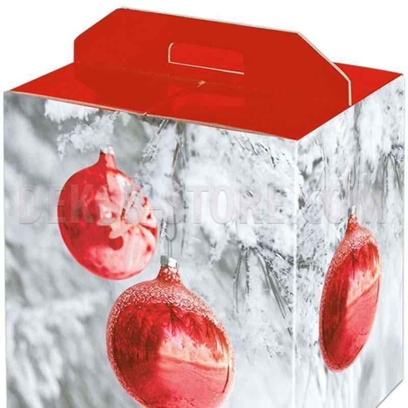 scotton spa scotton spa pacco dono con maniglia 430x240x345 mm - sfere rosse