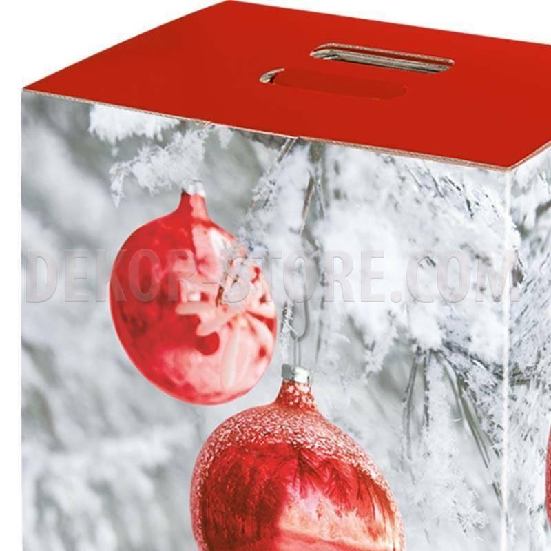scotton spa scotton spa pacco dono cubo 330x250x350 mm - sfere rosse