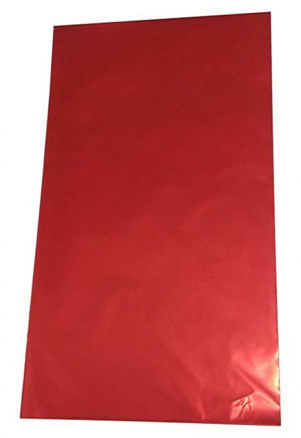 buste metallizzate soft rosso 20 x 35 cm - 50 pz