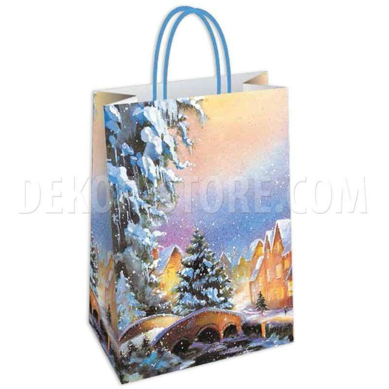 shopper in carta nevada - 36x12x41 cm