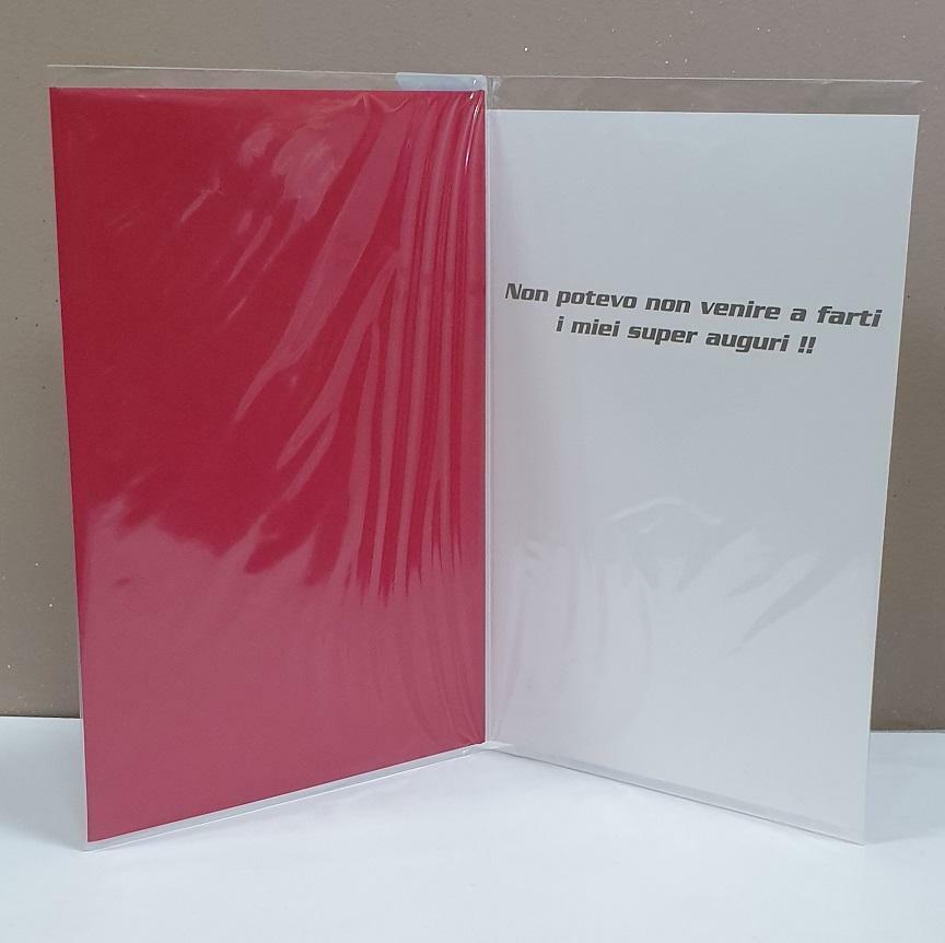 florio florio biglietto compleanno disney film cars cricchetto con busta rossa