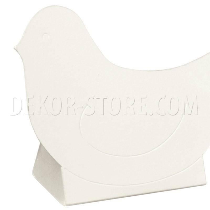 scotton spa scotton spa scatola 60x35x90 mm in cartoncino a forma di uccellino white