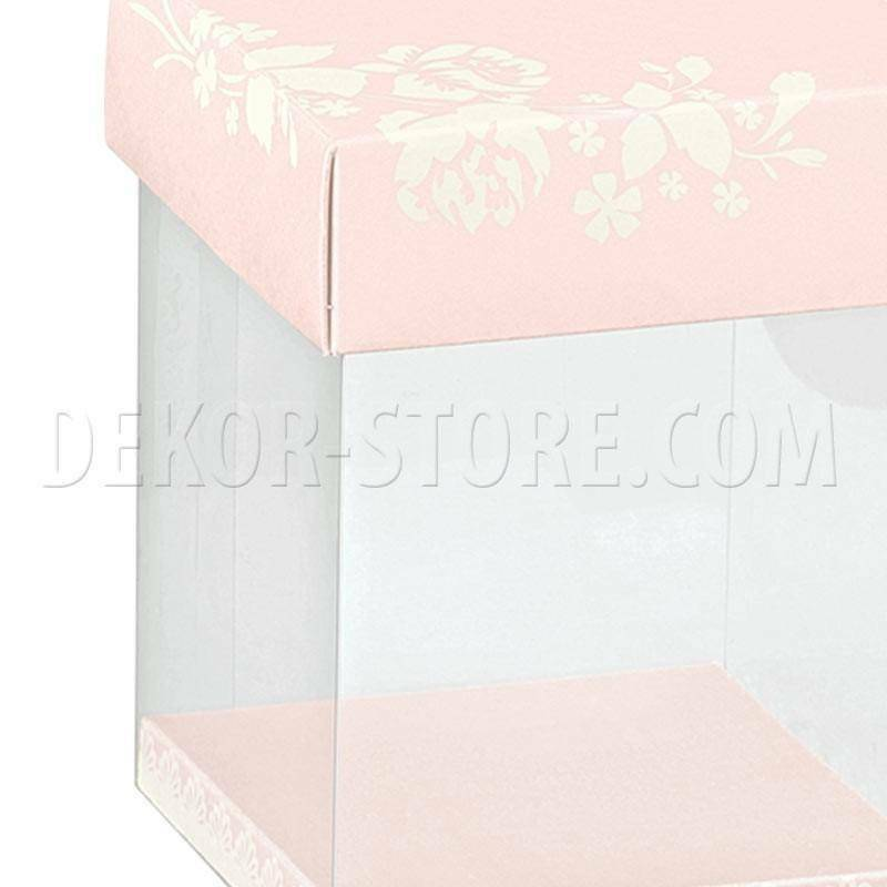 scotton spa scatola in pvc trasparente shabby chic 100x100x120 mm - 4 pz