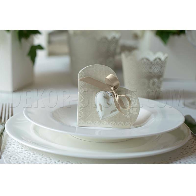 scotton spa scotton spa cuore bianco in metallo con spago - 40 mm