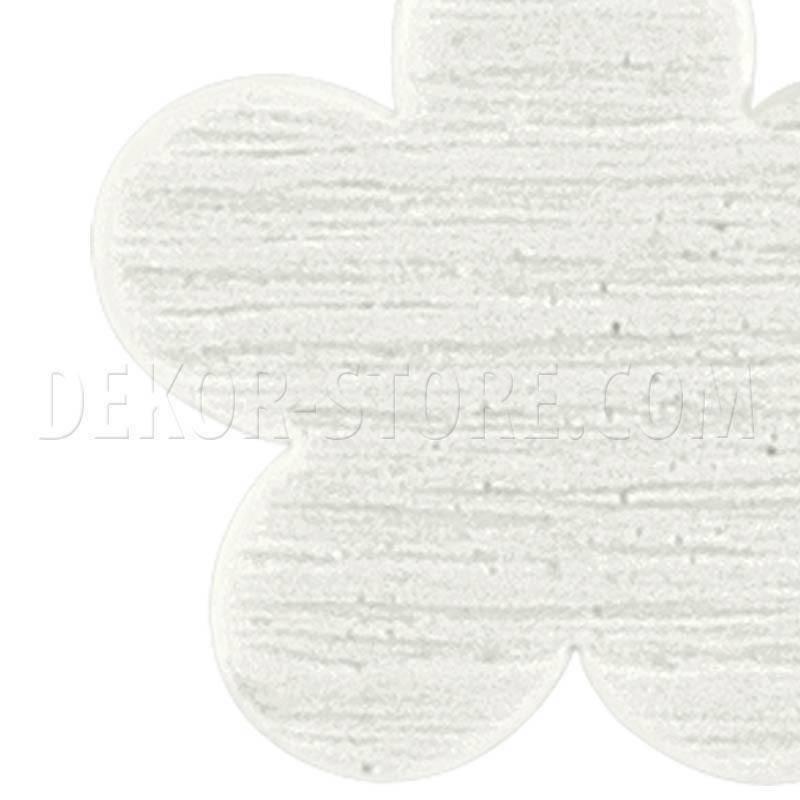 scotton spa scotton spa fiore bianco in legno - 28 mm