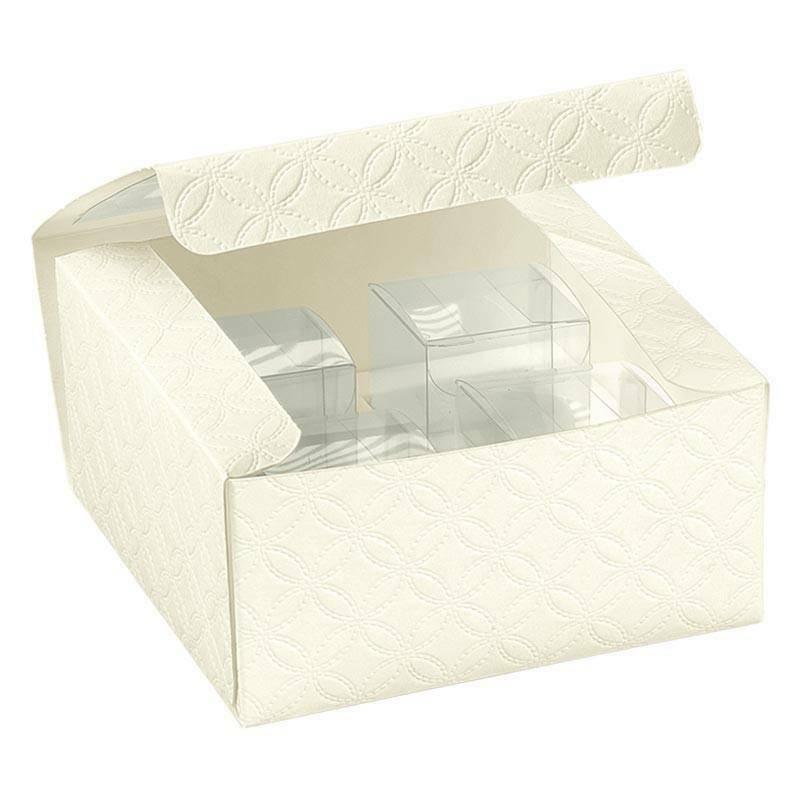 scotton spa kit scatola pratica con finestra matelasse bianco - 120x120x60 mm
