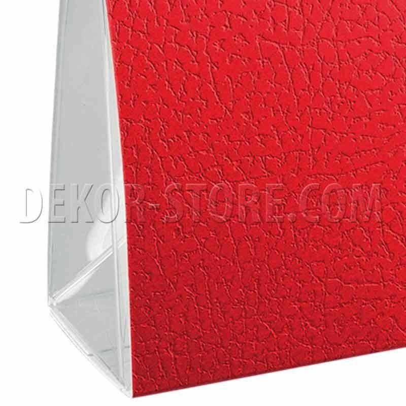 scotton spa scatola vela porta confetti pelle rosso 70x40x85 mm - 5 pz