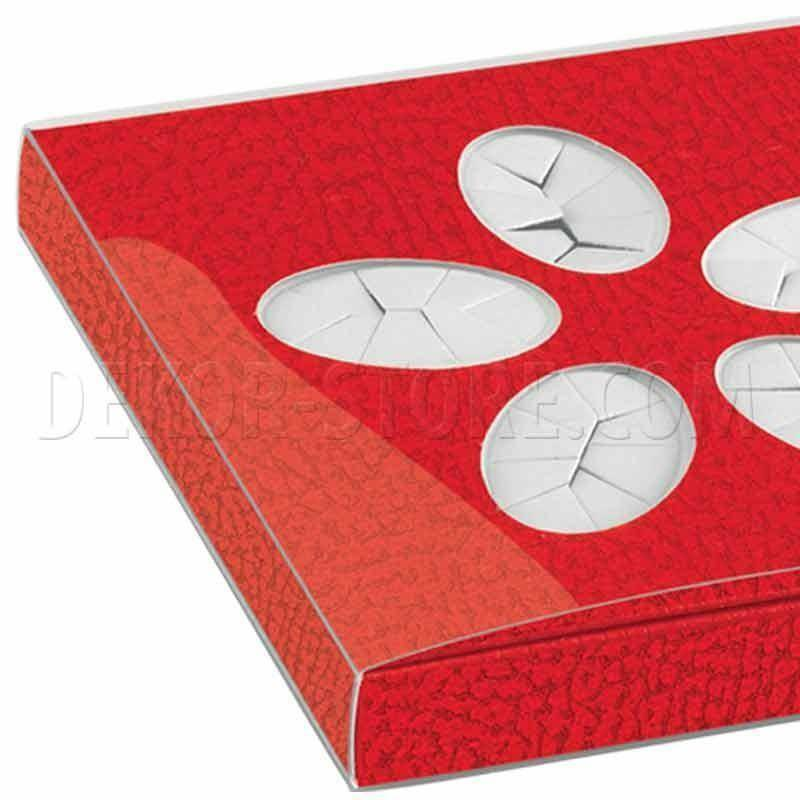 scotton spa astuccio porta confetti pelle rosso 105x100x15 mm - 5 pz