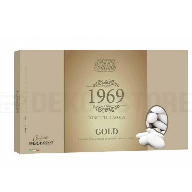 maxtris confetti maxtris mandorla avola gold - 1 kg calibro 40