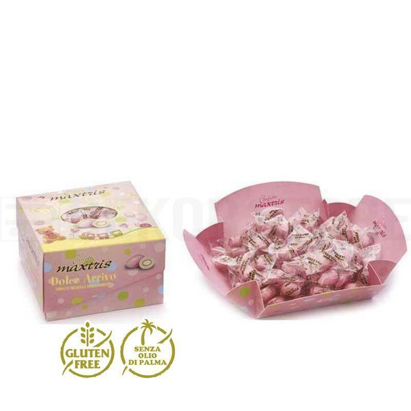 maxtris maxtris vassoio dolce arrivo rosa - confetti  500gr