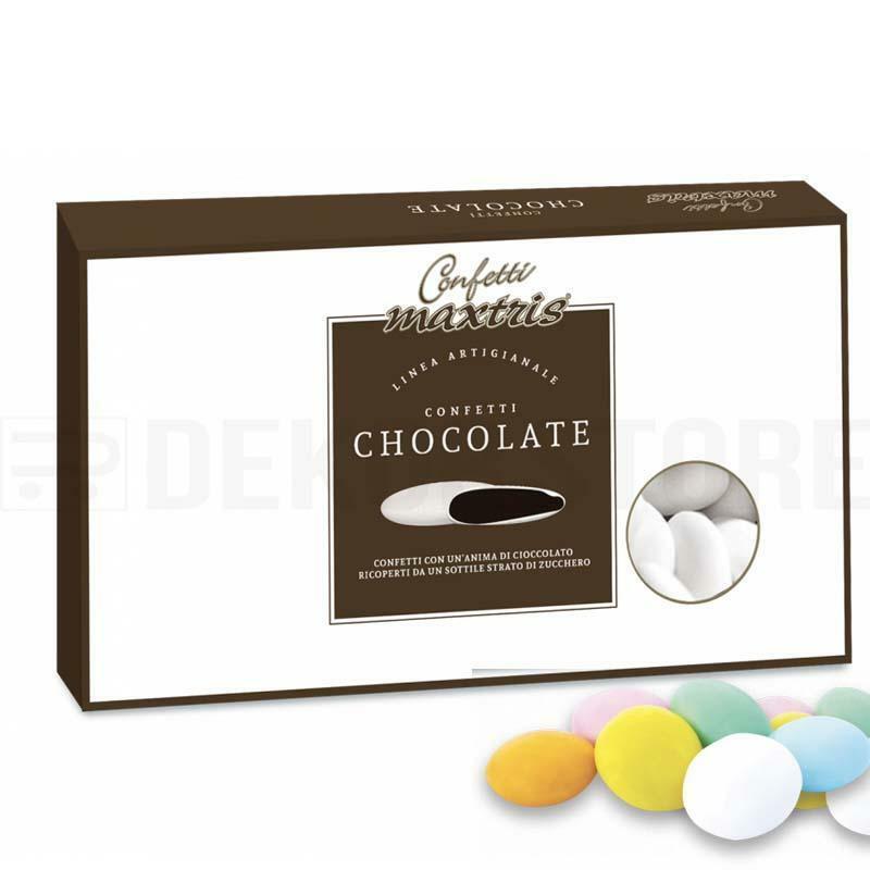 maxtris maxtris confetti  cioccolato al latte - lenti colori assortiti