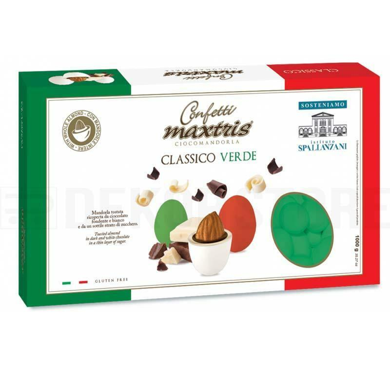 maxtris confetti maxtris classico verde - 1 kg