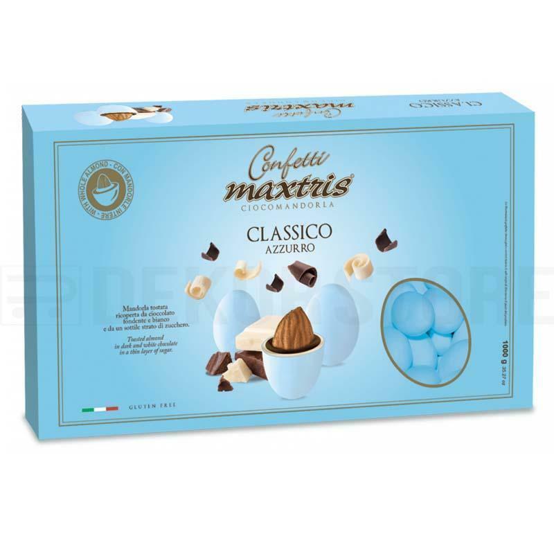 maxtris confetti maxtris classico azzurro - 1 kg