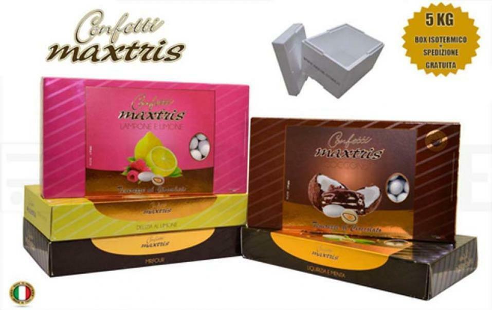 maxtris kit risparmio confetti maxtris 5 kg gusti personalizzati - per 50/75 invitati