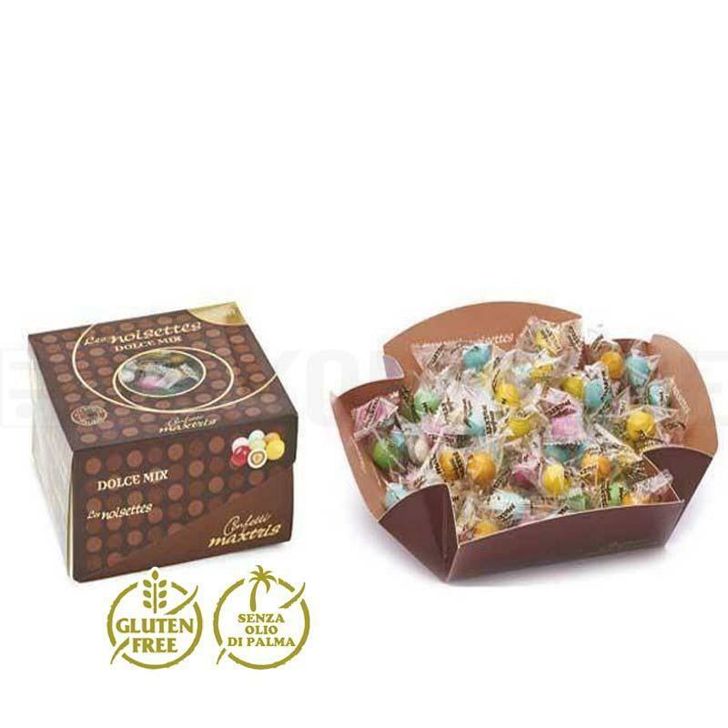 maxtris maxtris les noisettes dolce mix vassoio - confetti  0,5 kg