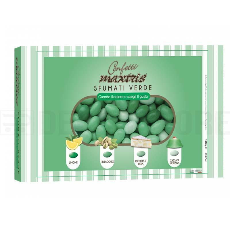 maxtris confetti maxtris sfumati verde - 1 kg