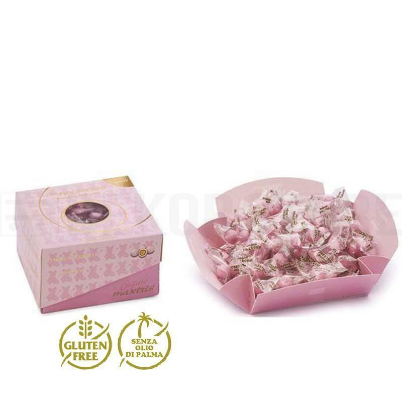 maxtris maxtris dolce arrivo noisettes rosa - vassoio  500 gr.